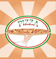 pizza design template vector image vector image