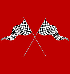 two flags on a red background vector image