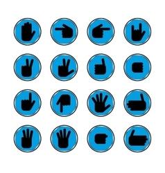 Gestures of hands vector image