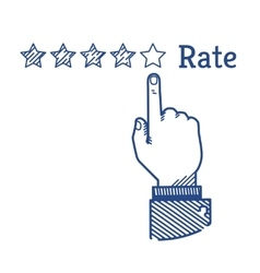 Rating vector image vector image