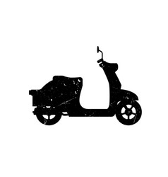 scooter silhouette vector image vector image