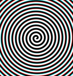 3d effect hypnosis spiral vector