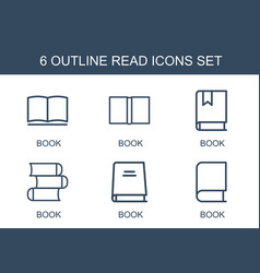 6 read icons vector