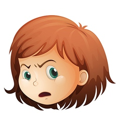 A head of an angry child vector image