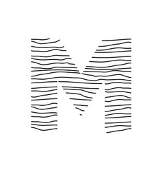 Abstract line initial m vector