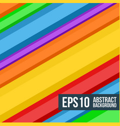 Abstract multicolored stripes background vector