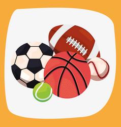 balls sport equipment vector image
