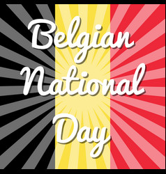 belgian national day flag of belgium rays from vector image