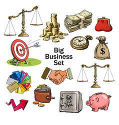 big cartoon business set vector image