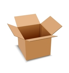 Brown carton delivery packaging box isolated on vector