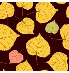 brown seamless Pattern with leaves-01 vector image