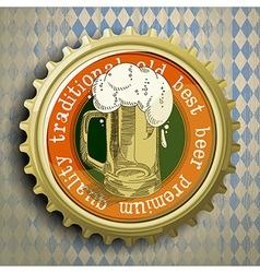 Cap for beer bottles vector