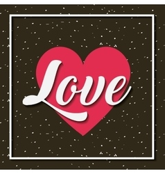 Card of love design vector
