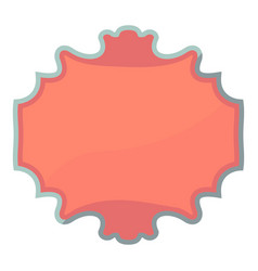 Carton tag icon cartoon style vector