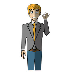 Cartoon man avatar comic vector