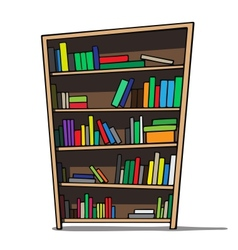 Cartoon of a bookshelf vector