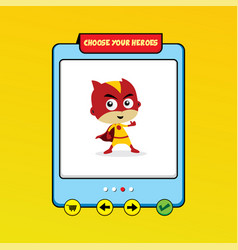 Cartoon superhero game asset theme hero art vector