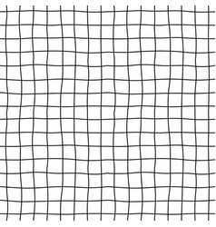 Cell hand drawn seamless pattern grid dark vector