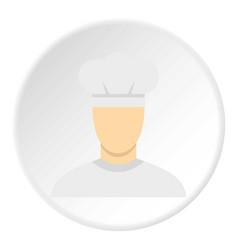 Chef icon circle vector