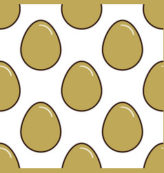 Chicken eggs seamless pattern background flat vector