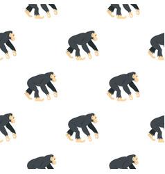 Chimpanzee pattern seamless vector