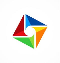 circle shape colorful technology logo vector image
