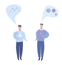 Conversation of two business men flat vector