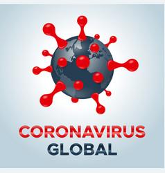 coronavirus molecule cell icon 3d vector image