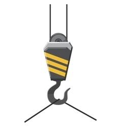 Crane hook icon cartoon style vector