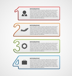 Creative infographic number options template vector