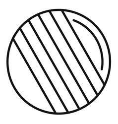 Croquet ball icon outline style vector
