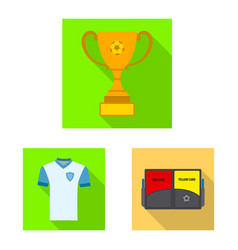 design soccer and gear icon collection vector image