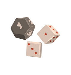 Dice cubes board game element vector