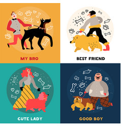 dog owners design concept vector image