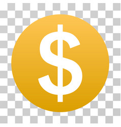 dollar coin gradient icon vector image