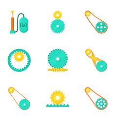 engine elements icons set cartoon style vector image