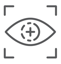 eye scan line icon access and identification vector image
