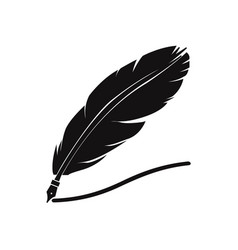 feather pen icon vector image