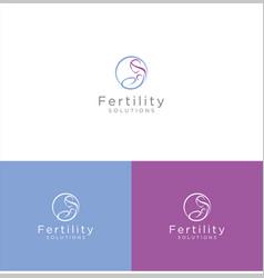 fertility center logo clinic solutions vector image