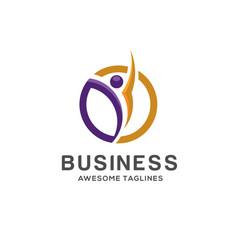 Fitness logo template vector