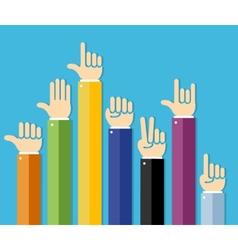 flat hands set vector image