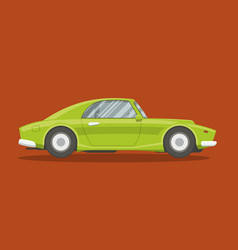 Flat race car vector