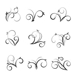 Flourishes and swirls collection vector