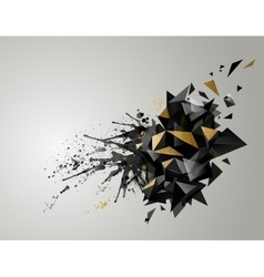 Geometric abstract banner with black color and vector image vector image