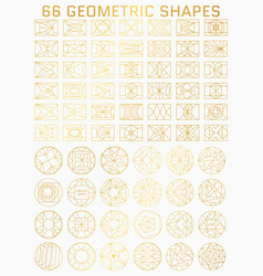 Geometric line shapes vector