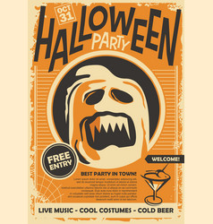 ghost graphic for halloween night eve vector image