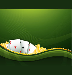 green casino gambling background elements vector image