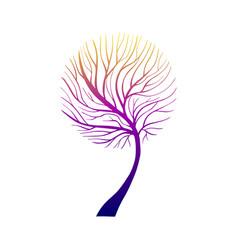Hand drawn grown tree gradient-05 vector
