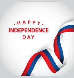 Happy independent day template design vector