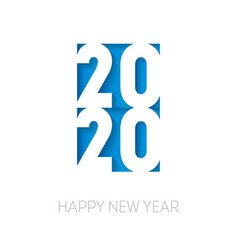 happy new year 2020 cover business diary for vector image